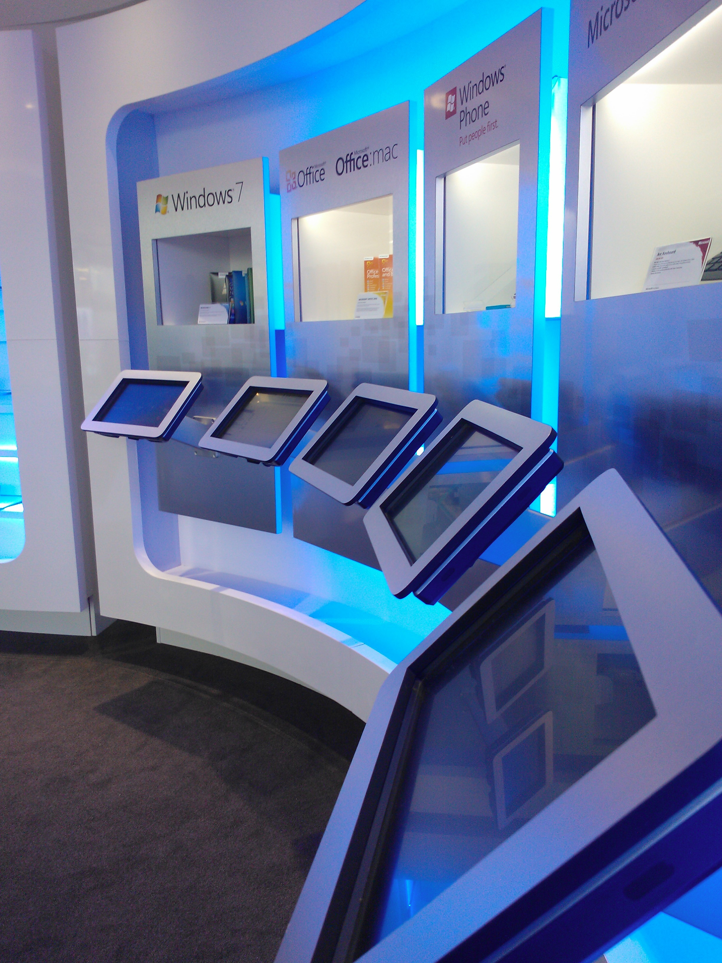 Microsoft Product Stand in Main Lobby