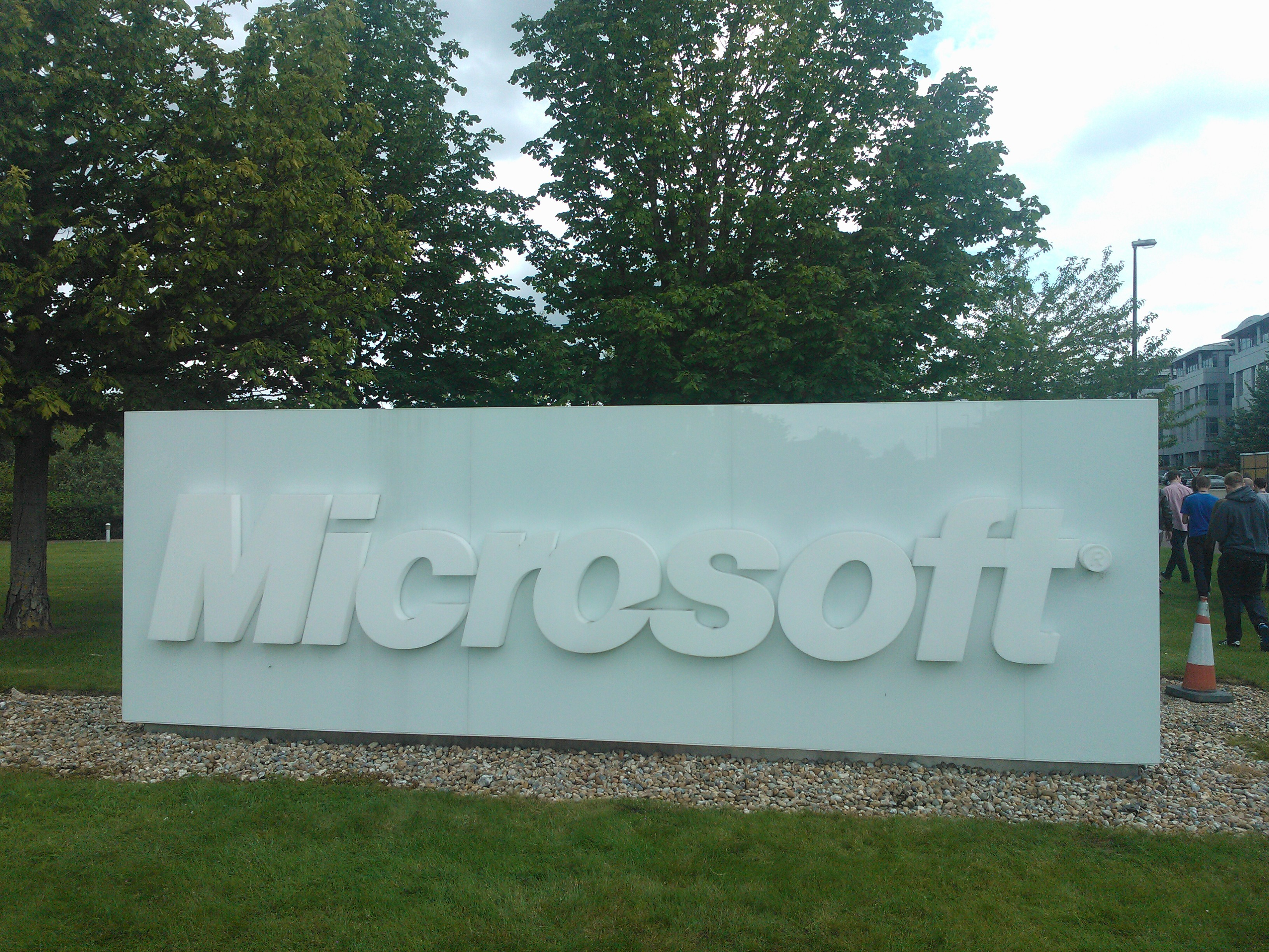 Microsoft Welcome Sign